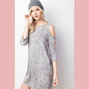 Dresses & Skirts - 2 X HP! Tie Dye Cutout Cold Shoulder Dress